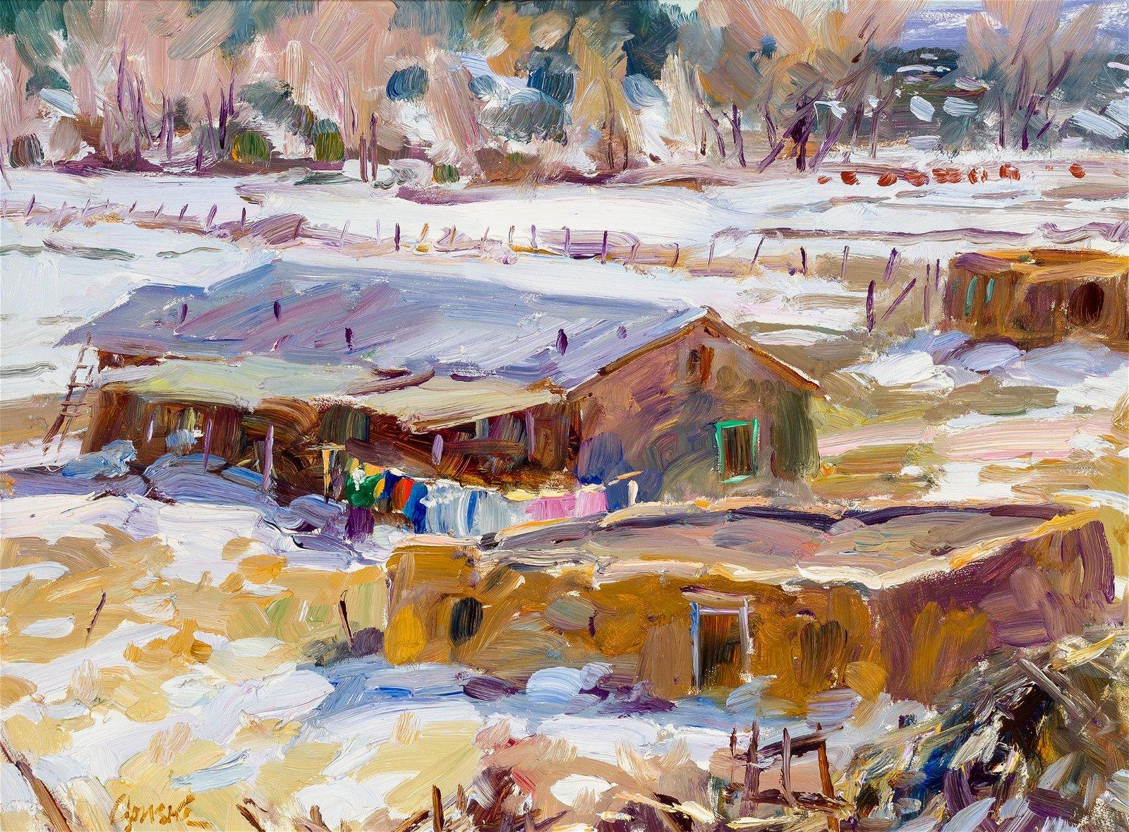 Walter Gonske | Wash Day at La Puente, New Mexico