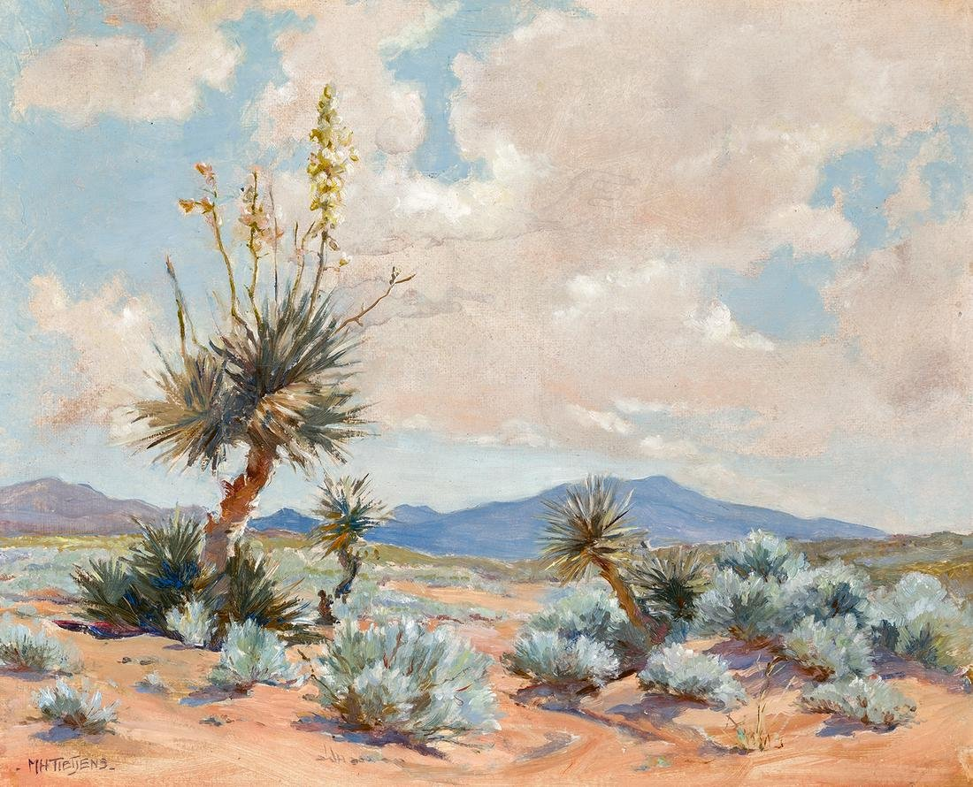 Marjorie Tietjens   Yuccas and Blue Sage