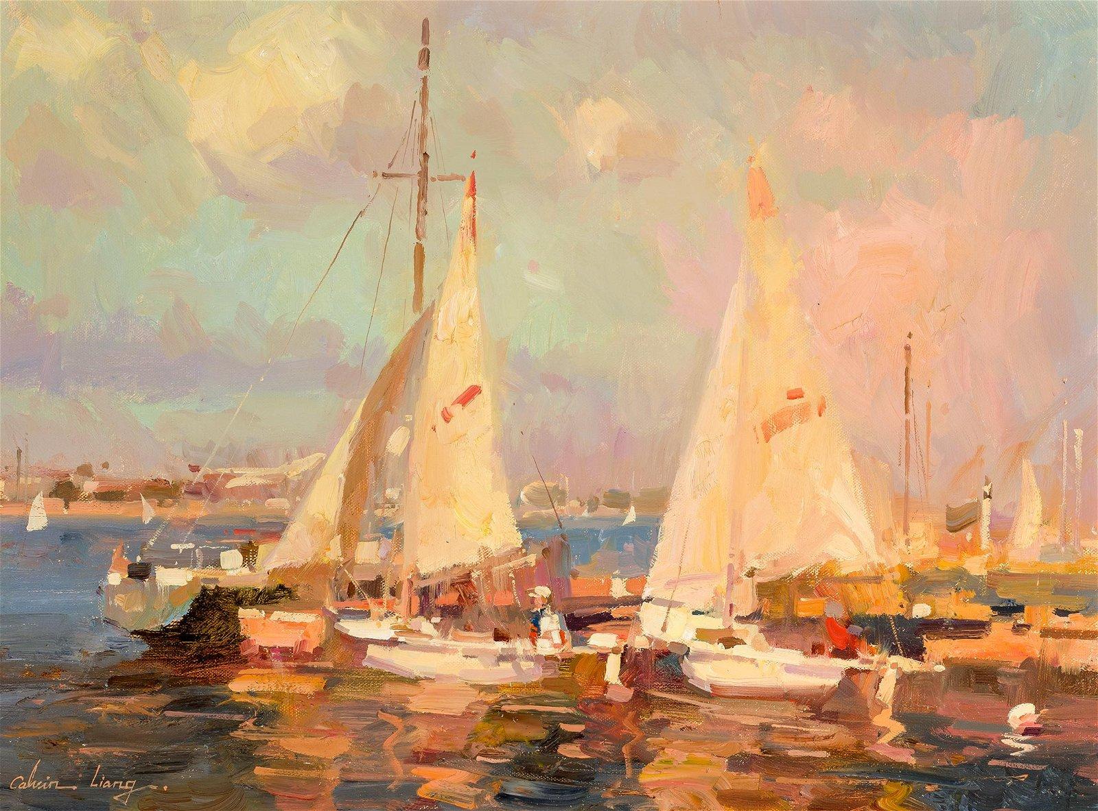 Calvin Liang | Afternoon Sailing at Newport Beach