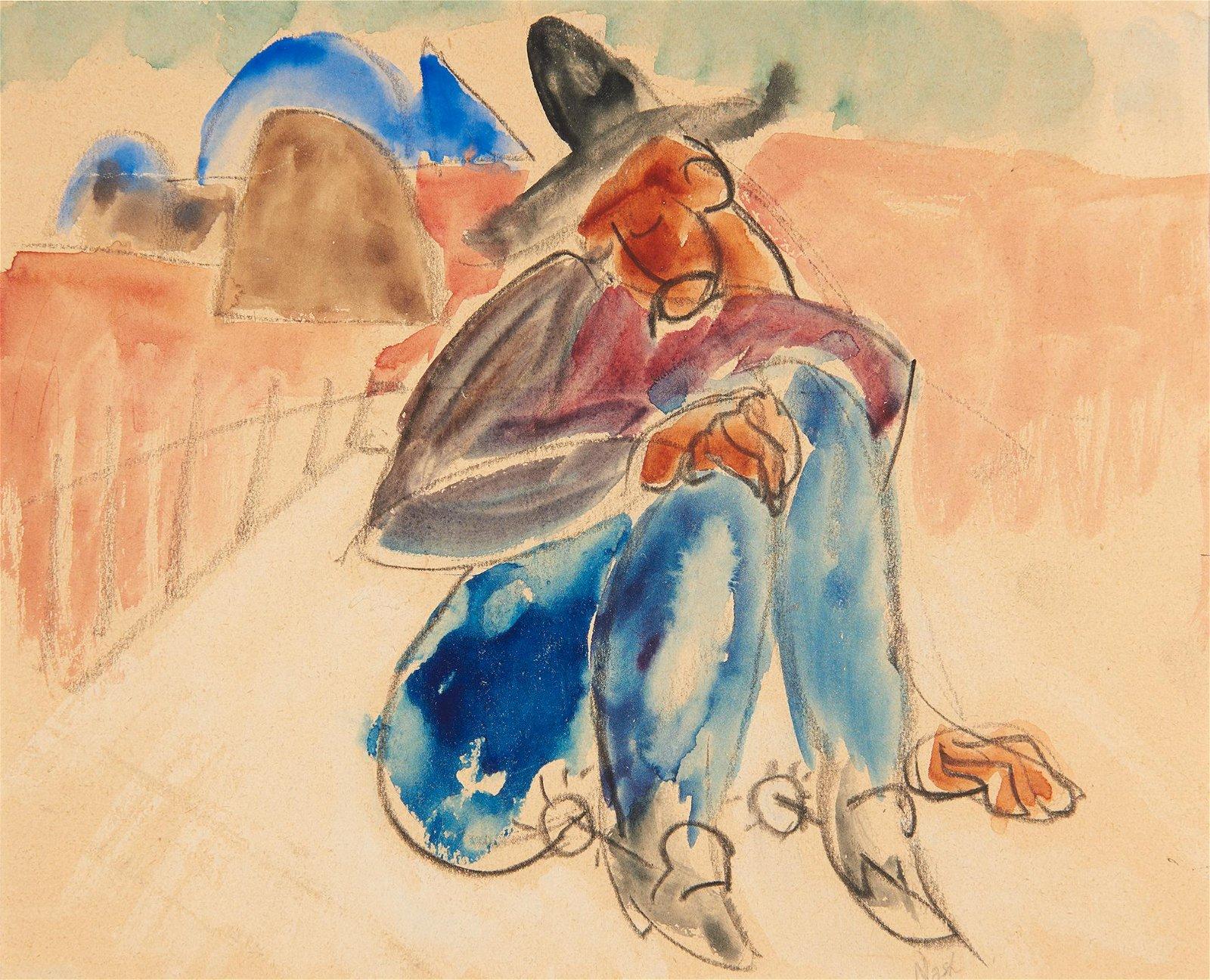 Willard Nash | Sleeping Cowboy