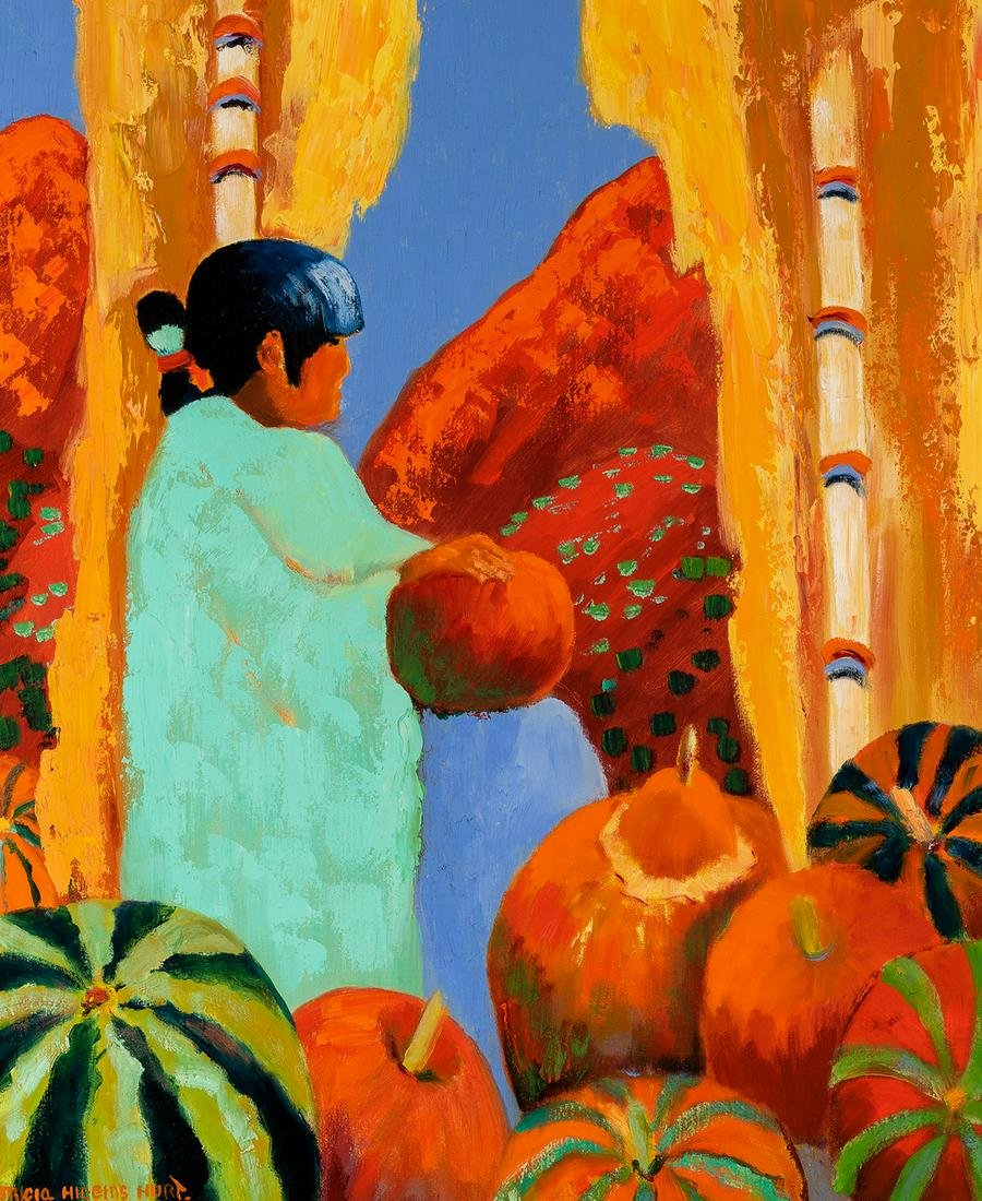 Tricia Higgins Hurt | Girl with Pumpkins and Melons