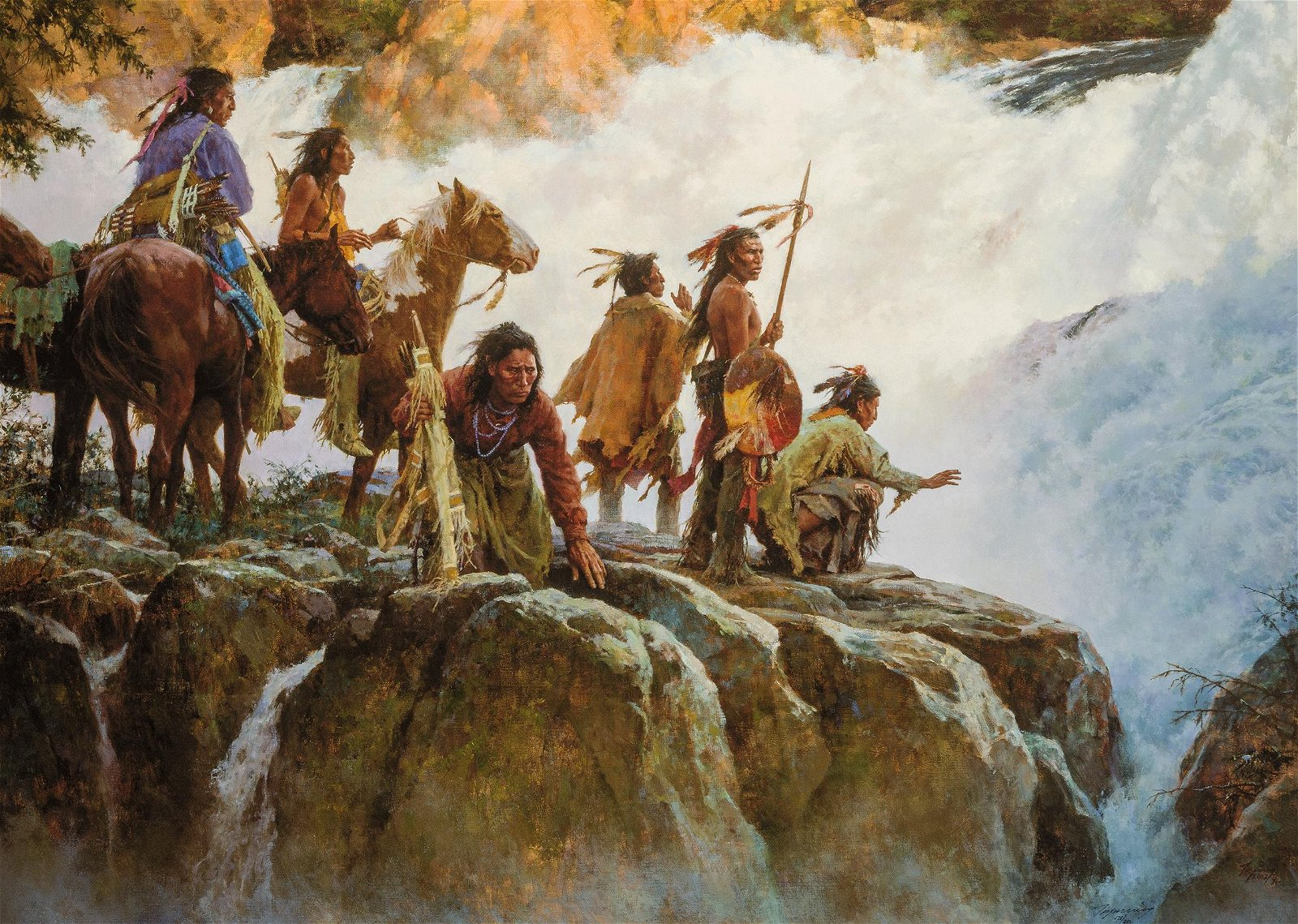 Howard Terpning | The Force of Nature Humbles All Men