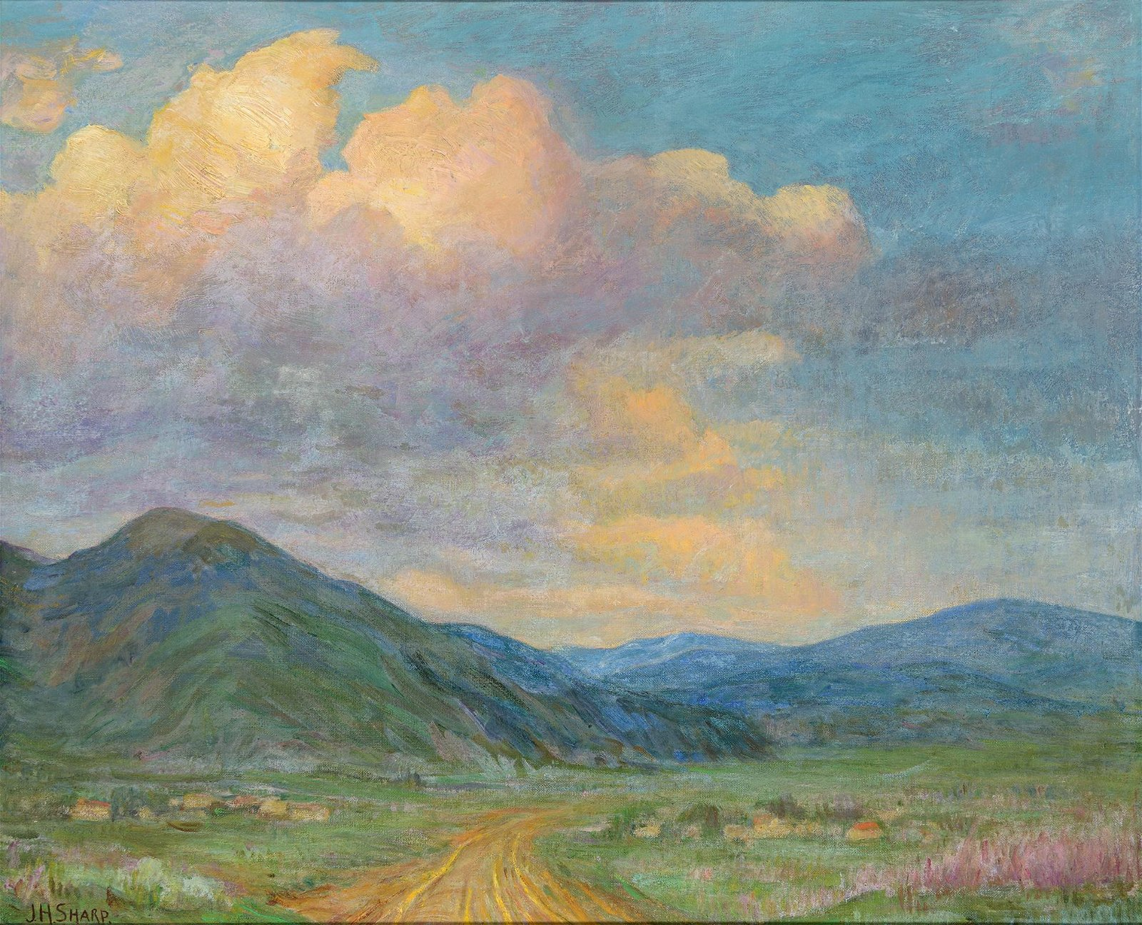 Joseph Henry Sharp | Storm Clouds Over Taos Mountain