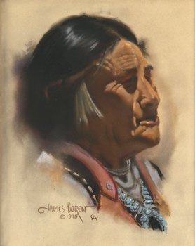 8: James Boren, Indian with Turquoise Necklace