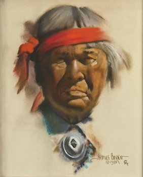9: James Boren, Indian with Red Headband