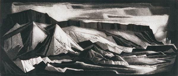 6: Doel Reed ``Sun Patterns Dark Canyon``