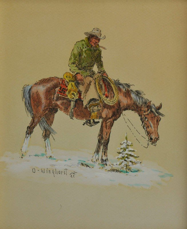 3: Horse and Rider in Winter (desc)