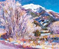 Walter Gonske - Taos Pueblo Cottonwoods