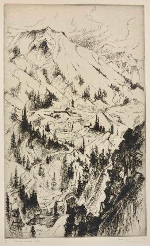 Gene Kloss    Mine and Mountain Sketch