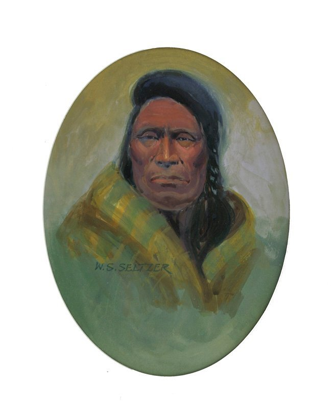 Steve Seltzer    Indian Portrait with Yellow Robe