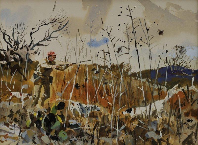 15: John Cowan   'A Portrait of a Bird Hunter, Study'