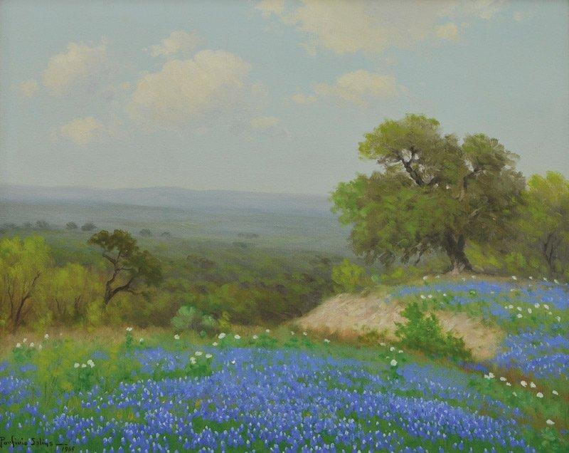17: Porfirio Salinas   'Poppies and Bluebonnets'