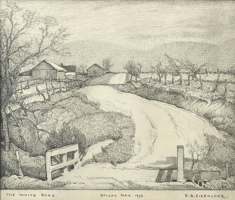 18: Edward Eisenlohr   'The White Road, Dallas'