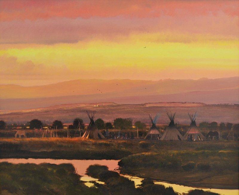 21: Nicholas Coleman   'Gathering Near the Green River'