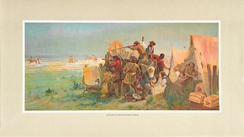 1: Karl Ferdinand Wimar  'Attack On an Emigrant Train '