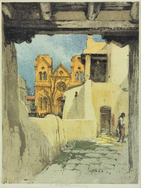 3: Luigi Kasimir  'La Fonda Inn (Santa Fe w/ cathedral)