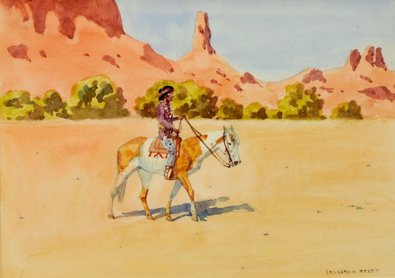 23: Leonard H. Reedy  'Navajo Rider'