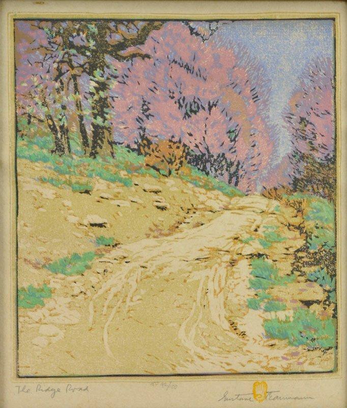 220: Gustave Baumann  'The Ridge Road '
