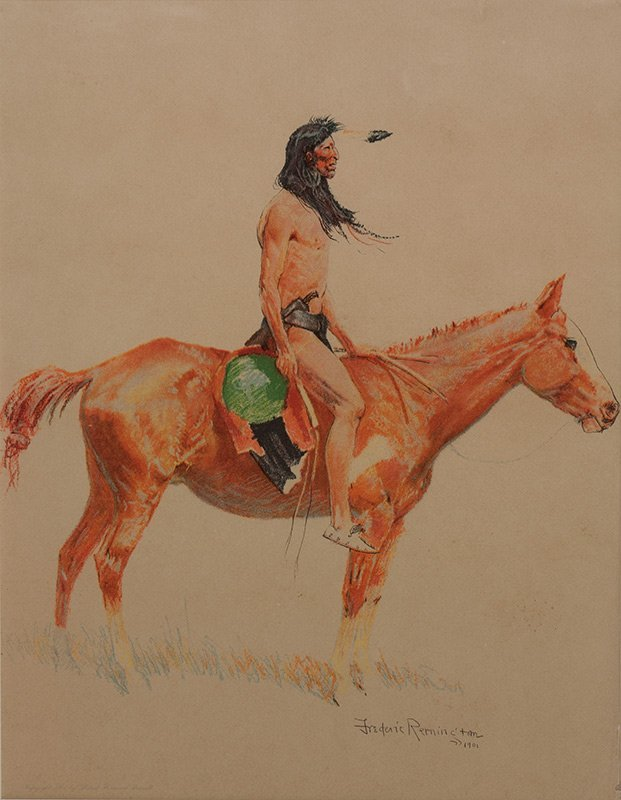 Frederic Remington 'A Bunch of Buckskins: A Cheyenne Bu