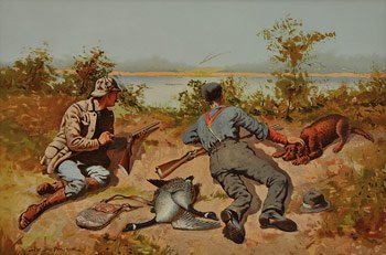 Frederic Remington 'Wild Geese Shooting'