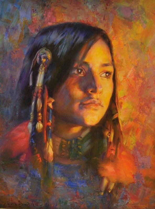 Thomas P. Darro  'Young Apache Girl'