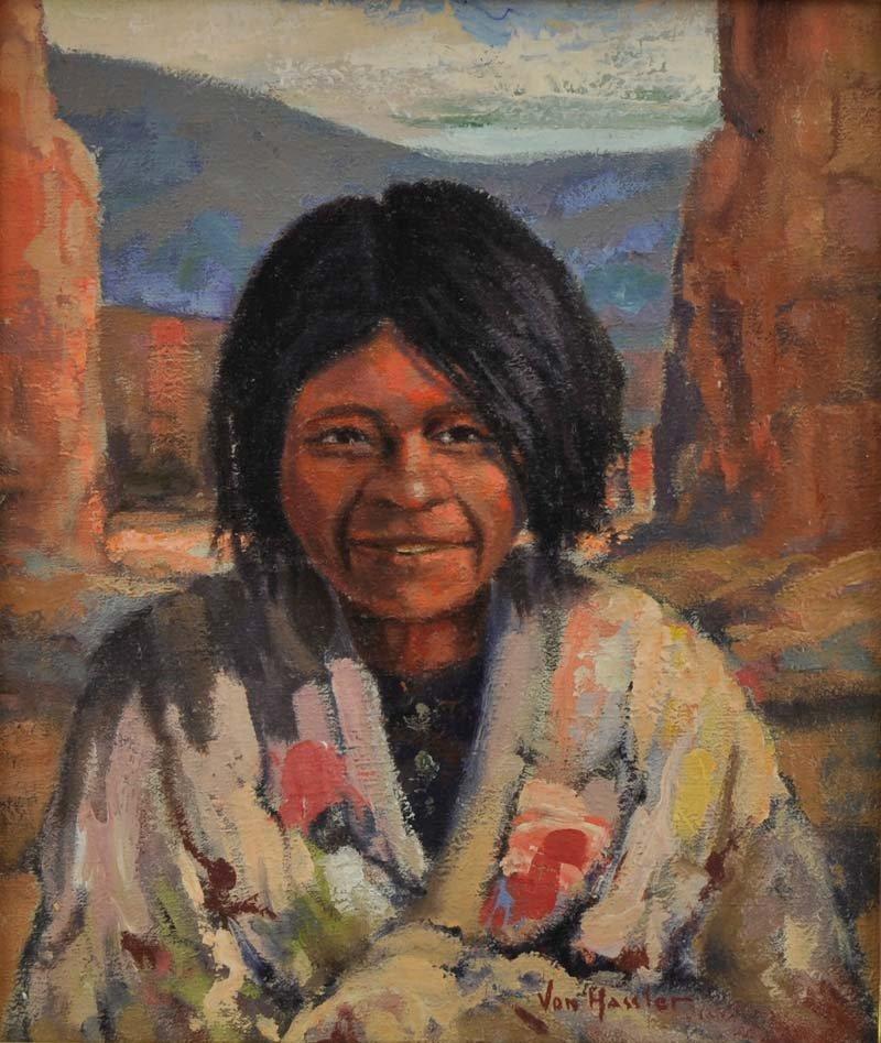Carl Von Hassler  'Smiling Navajo Girl'