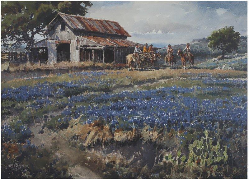 James Boren  'The Bluebonnets and Cowboys'