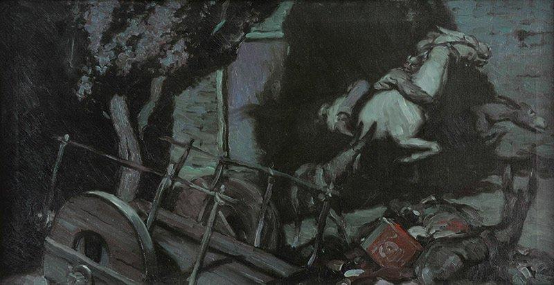 Harold Von Schmidt  'The Race'