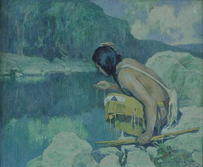 Eanger Irving Couse  'Indian in Moonlight'