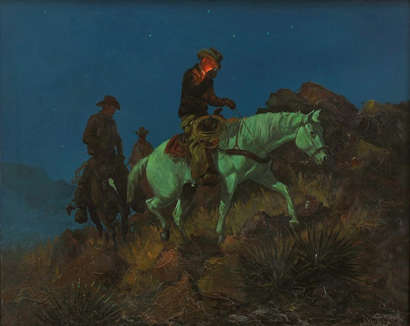 George Phippen, 'Moonlit Ride'