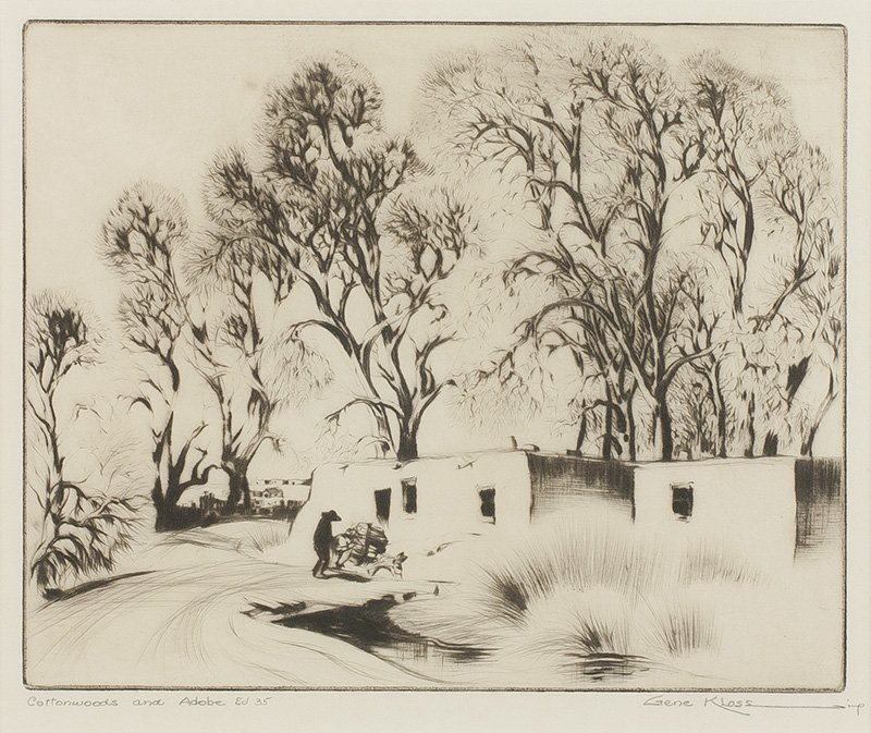 Cottonwoods and Adobe, 1937