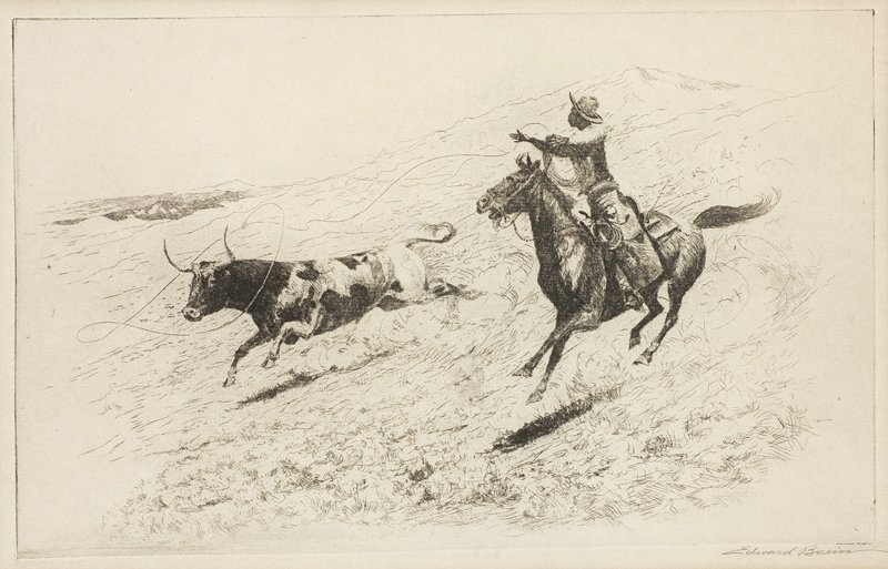 Edward Borein, 1872 - 1945 | End of the Race