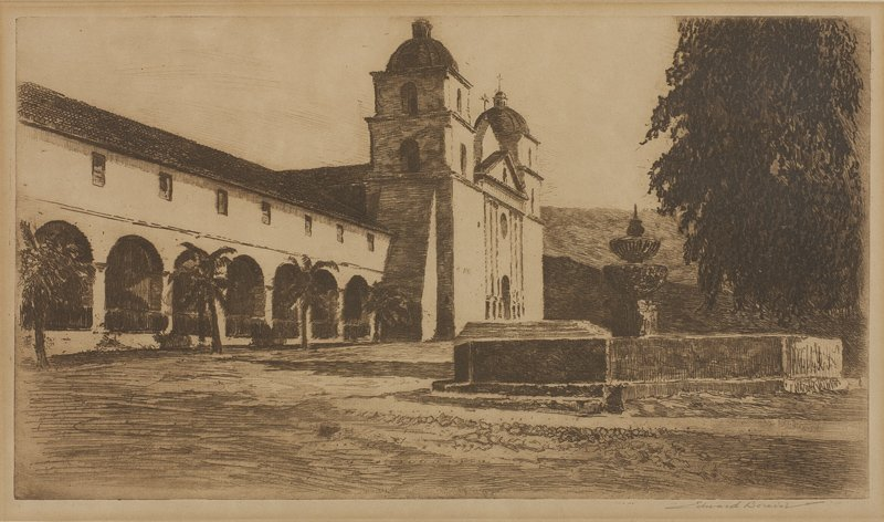 Edward Borein | Mission Santa Barbara No. 3
