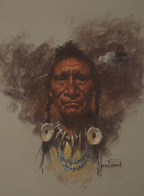 Harley Brown, b. 1939  | Bull Plume Blackfoot