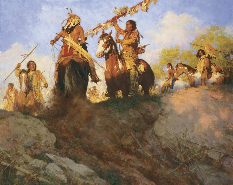 Howard Terpning | Sunset for the Comanche