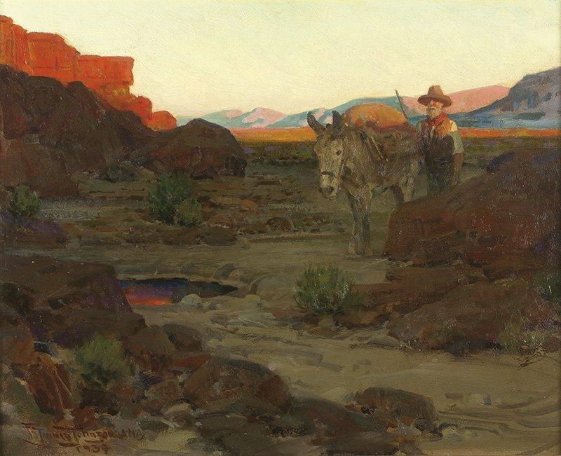 Frank Tenney Johnson   The Pool in the Desert