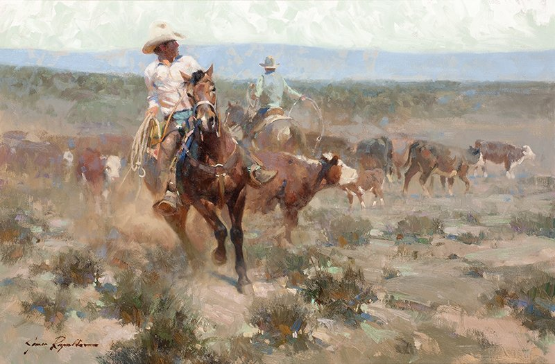 James Reynolds 1926 - 2010 CAA, NAWA   Victorio Cowboy