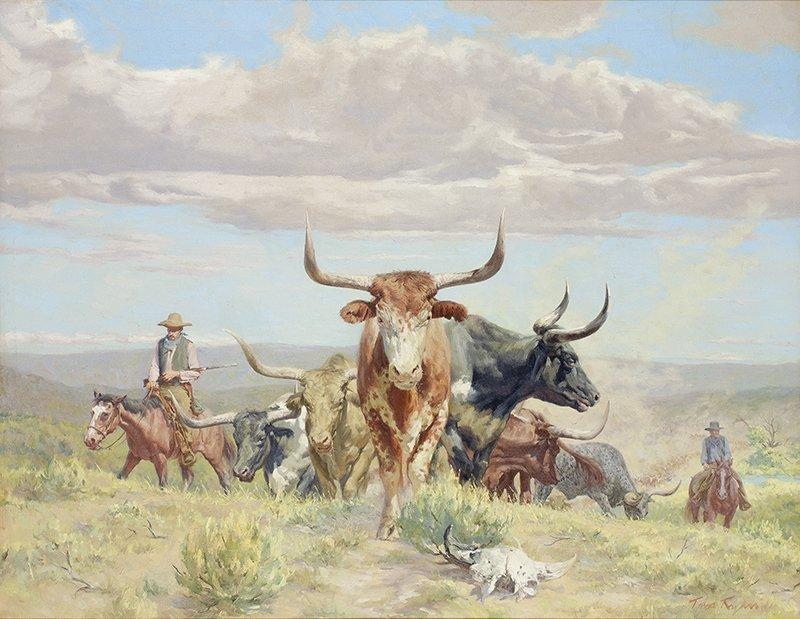 Tom Ryan 1922 - 2011  CAA, NAWA   White Horns