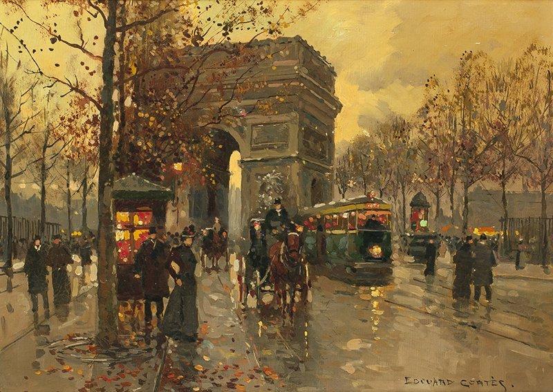 Edouard Cortes 1882 - 1969 SAF   Arc de Triomphe