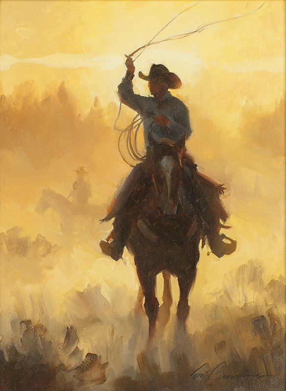 Tom Browning | Cowboy on Horseback with Lasso