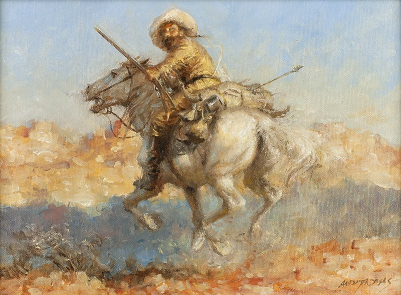 Andy Thomas | Cowboy on Horseback