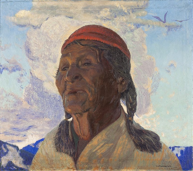 Ernest Leonard Blumenschein | Old Taos Indian