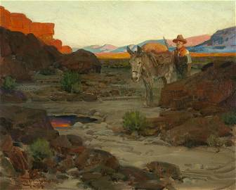 Frank Tenney Johnson | 1874 - 1939 NA The Pool in the