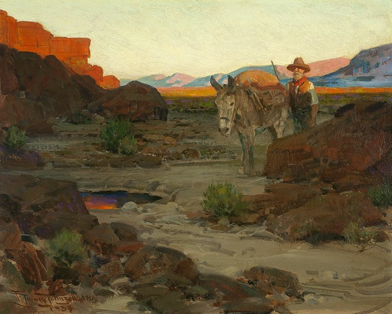 Frank Tenney Johnson   1874 - 1939 NA The Pool in the