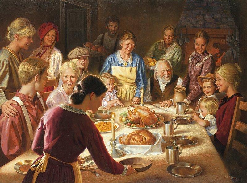Alfredo Rodriguez   b. 1954 AICA A Happy Thanksgiving