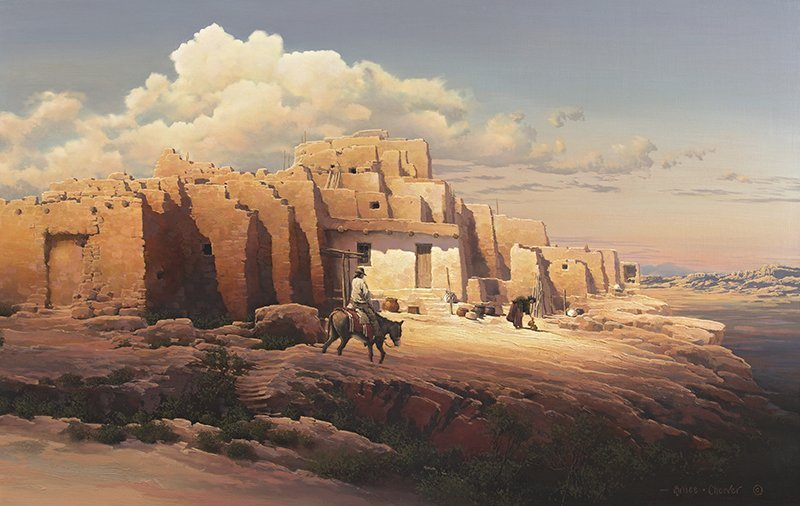 Bruce Cheever   b. 1963 Painted Desert, Walpi