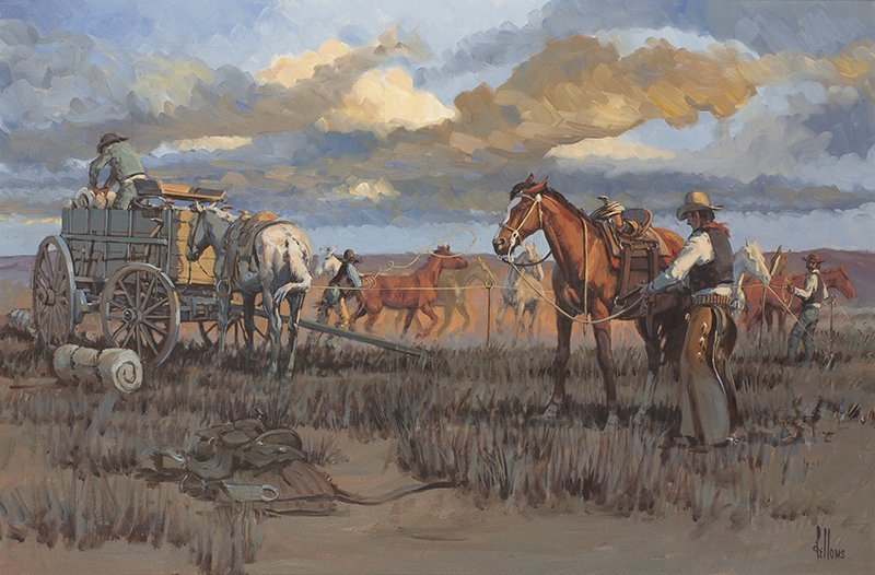 Fred Fellows   Changing Horses for the Evening Shift,