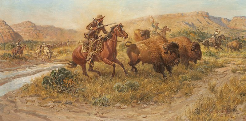 Joe Beeler | Colonel Goodnight Entering the Palo Duro