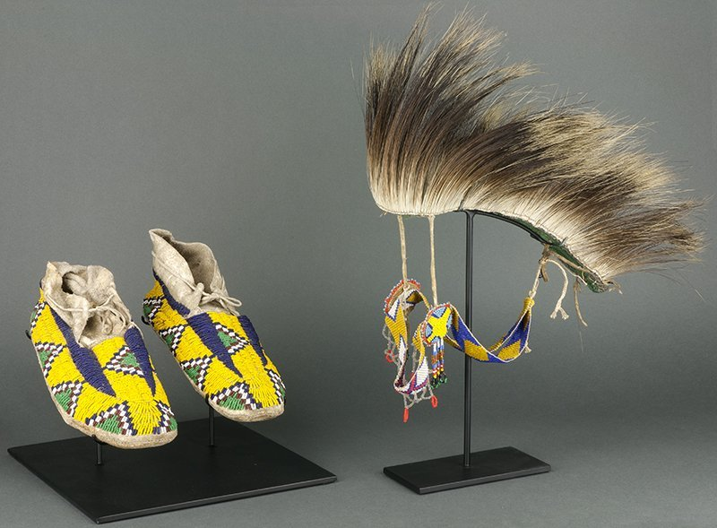 Sioux Moccasins & Stoney, Alberta Porcupine Roach (ca.