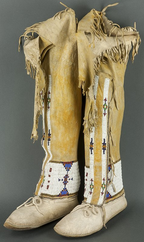 Beaded High Top Moccasins (Cheyenne or Arapaho ca. 1890